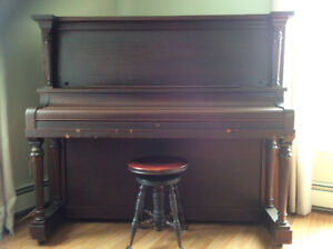 FREE Gourlay Upright Piano and Stool with available Music Stand