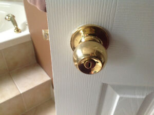 Brass door handle sets