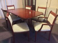 Dining table & 6 chairs £100 2 cabinets £70 Bureau £30 nest of tables £25 hifi cabinet £20 ex con