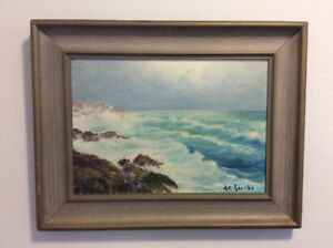 Original William deGarthe oil on board painting , signed