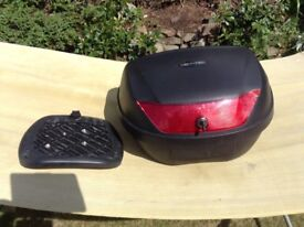 Motor bike top box and plate