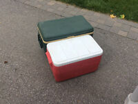 2 Coolers and outdoor lamp. All in perfect condition-very clean!