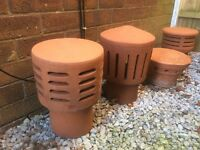 CHIMNEY COWLS, CAPS/VENTED POTS,ALL IN EXCELLENT COND,
