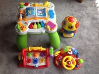Toddler Toy Bundle! 4 Items All Full Working Condition With Batteries! V-Tech Fisher Price Leapfrog