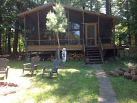 2 bedroom chalet style cottage with  bunkie waterfront