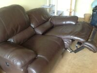REDUCED Dark brown double reclining lazy boy style couch