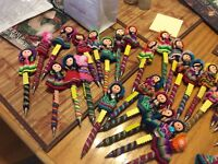 Gift ideas for children.      Handmade pens, and dolls from Peru