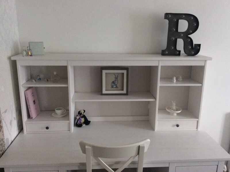 ikea hemnes white stain add on desk dressing table shelf unit in coventry west midlands gumtree. Black Bedroom Furniture Sets. Home Design Ideas