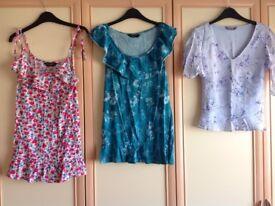Trio of Dorothy Perkins Ladies tops Size 12