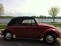 Convertible Classic Red Beetle