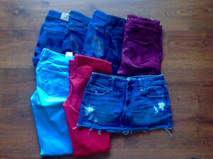 Lot jeggings Hollister taille 1