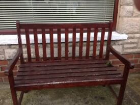 4ft wooden garden seat