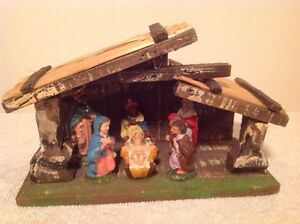 """Made In Italy""  Christmas Manger Scene"