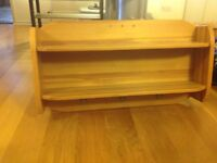 Mamas and Papas solid pine shelve / peg rail