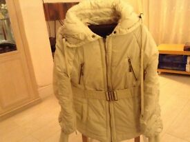 Winter White 1/3 Coat Size 18 By Denim Co