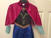 ***Disney Frozen Anna Fancy Dress Costume-size 5-6 Years***