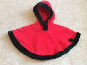 Baby Girls Winter Poncho, size 12 months
