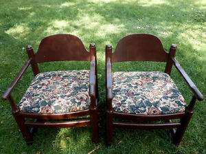 sturdy solid wooden chairs for sale Kawartha Lakes Peterborough Area image 2