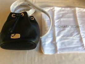 Genuine Michael Kors Black leather cross body bag
