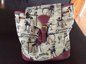 Cafe Inspired Backpack Styled Purse