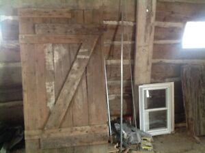 "barn door(71"" X 38.5"") with hardware from century old log barn"