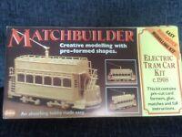 Matchbuilder electric tram car kit
