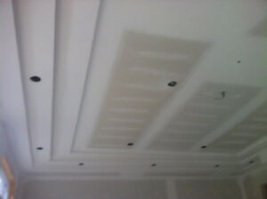 Drywall Repair- Water Leak-Basement plastering-popcorn ceiling