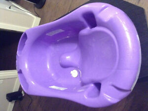 Baby bath tub and change pad with cover
