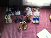 Various size baby shoes