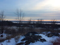 One acre lot with beautiful views of Ottawa river