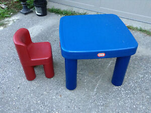 Little Tikes table with one chair for sale London Ontario image 1