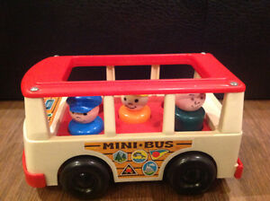 Vintage Fisher Price Little People mini-bus!