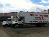Empty moving van returning to Prince George Jul 26th