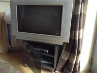 "28"" PHILIPS TV with free viewer and DVD player and table"
