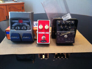 Guitar pedals for playing /recording.
