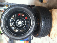 LIKE NEW! 2X - 195/70R14 MICHELINE X M & S WINTERS WITH RIMS!