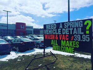 $39.95 DETAIL SPECIAL Wash and Vac Spring Clean Up