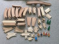 A big set of Wooden Train Tracks plus extras BIgJigs and other brands
