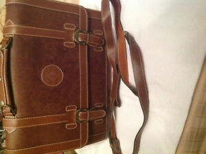 Country Style genuine leather briefcase