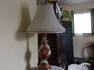 Vintage large lamp with original shade