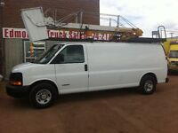 2005 CHEV EXPRESS 3500 CARGO LADDER VAN
