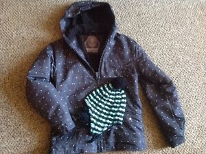 Girls youth powder room winter jacket