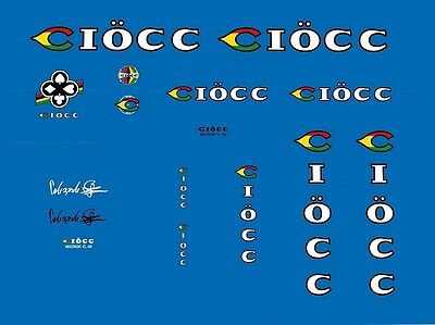 6020 Ciocc Bicycle Handlebar Bar End Plug Stickers Decals