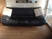 Black leather suite for sale 3 & 2