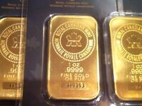 Buying Gold & Silver Bullion Bars, Maple Leafs, Coins, Jewelry