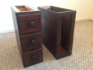 Antique oak (3) Singer sewing machine Drawers