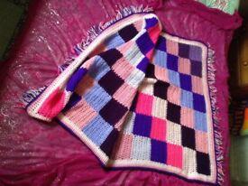 Mauve Patchwork Blanket