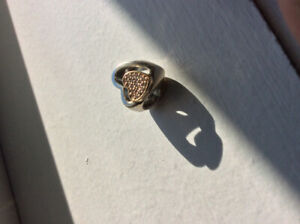 "Pandora ""Joined Together"" CZ Heart Charm"
