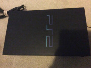 Sony PlayStation 2 PS2 game console system black used