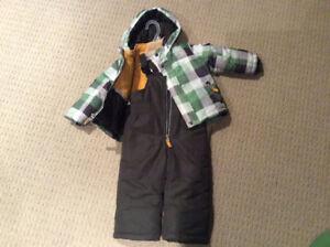 Carters snowsuit, jacket and snow pants, EUC